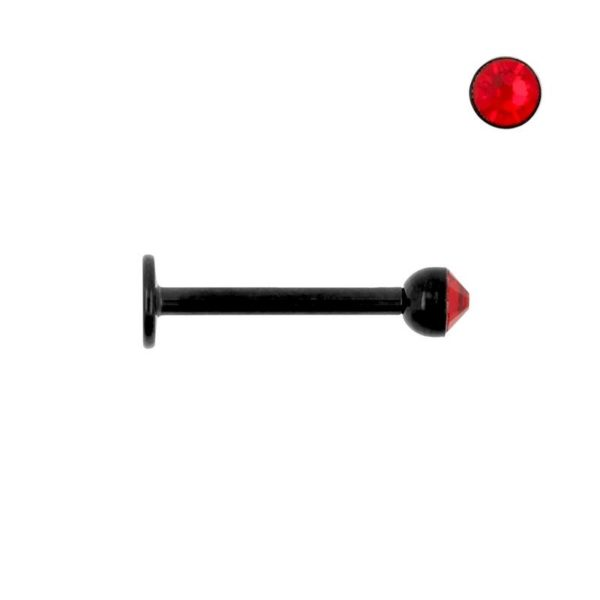 Labret black with red ball