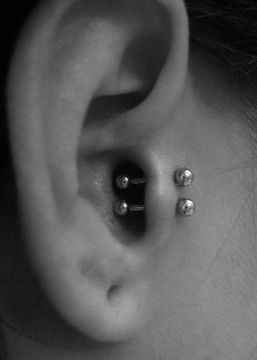 Tragus ear piercing